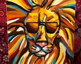 Lion Pop Art Canvas Art