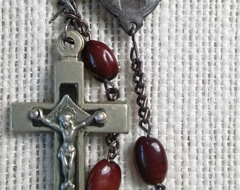 Brown seed rosary