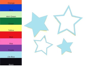 25 pack - Star Shape Cut Out, Paper Stars, Paper Star Shape, Star Embellishments