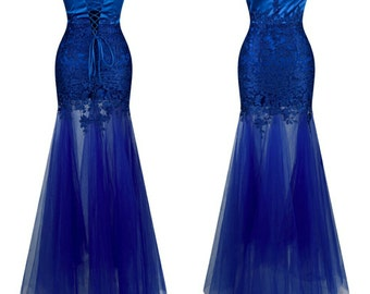 Strapless mermaid even gown