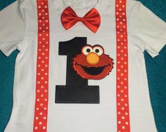 ELMO  Party Shirt Boy 1st Birthday Shirt 1T