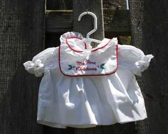 Vintage Baby Girls Christmas Dress by Bryan