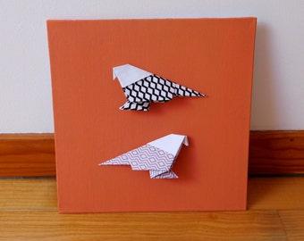 Table-origami birds land of Siena
