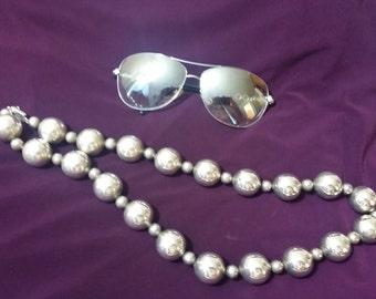 Vintage Sterling Silver necklace Huge !!!
