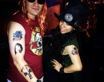 Axl Rose Printed Temporary Tattoos