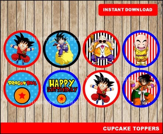 Dragon Ball cupcakes toppers printable Dragon by ...