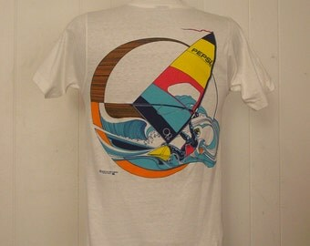 T shirt vintage, Vintage, 1980s OP t-shirt, Ocean Pacific, Pepsi, sailboard, New old Stock, NOS, Medium