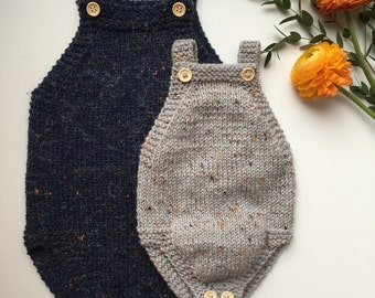 Little Brother's Romper - English knitting pattern