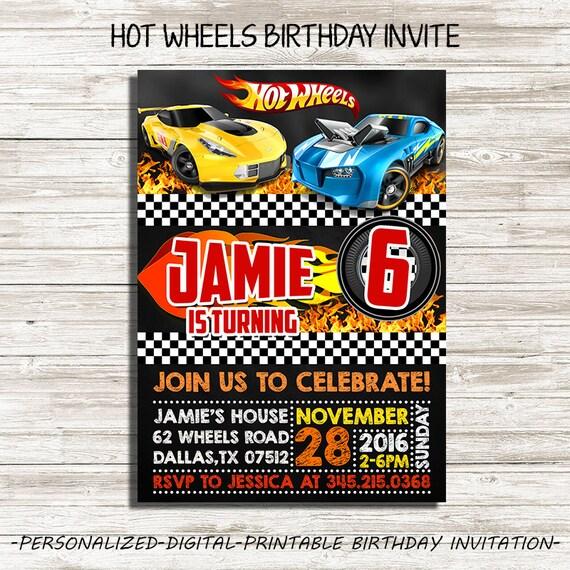 Hot Wheels Birthday Invitation : Hot Wheels By