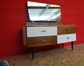 Mahogany & Teak Dressing table with Original Mirror