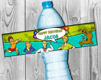 Scooby Doo Water Bottle Label