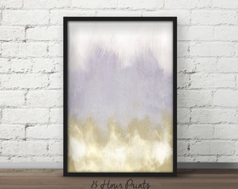 Instant Download Brushed Gold Abstract Painting - Art Print - Printable Art - Digital Prints - Abstract Art - Dipped Gold -  Wall Art