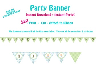 Golf Baby Shower Banner  Printable Banner