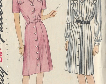 "1940s Vintage Sewing Pattern B32"" DRESS (81) Simplicity 1273"
