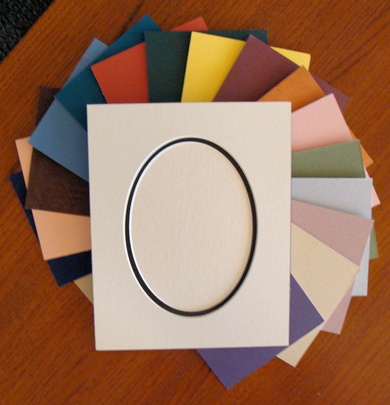Picture Framing Mat Oval Opening Double Layer Matting