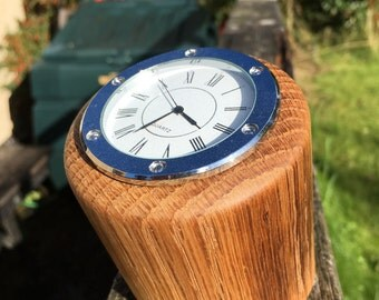 Desk clock - hand turned