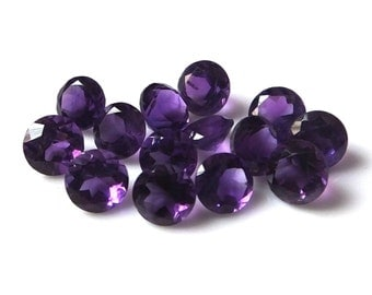 10 pieces 6mm Amethyst Faceted Round loose gemstone Top quality natural Amethyst round faceted gemstone wholesale lot Faceted Amethyst