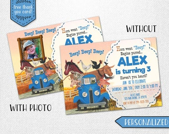 Little Blue Truck invitation, Little Blue Truck photo invitation, Little Blue Truck birthday invitation!