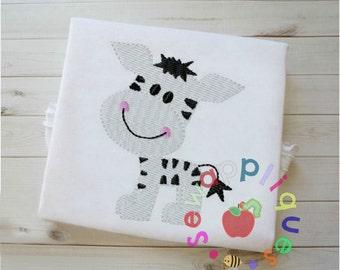 Zebra fill stitch embroidery design