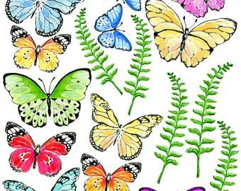 Julie's SurfaceTattoos Butterfly Fields