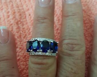 Sapphire Blue Quartz Ring- size 7!