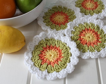 Crochet- Coasters  (Set of Four)