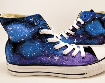 Galaxy shoes Custom Hand Painted Converse Sneakers