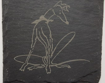 Natural Slate Coasters featuring Nellie Doodles Artwork