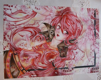 "Poster ""red"" A3"