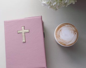 Dusty Pink Leather Bible Cover