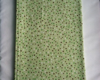 Green and Brown Dotted Receiving Blanket