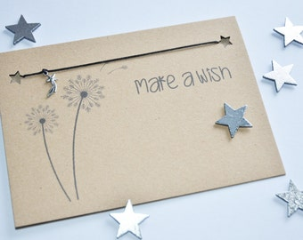Make a Wish Card, Make a Wish Charm Bracelet, Shooting Star Silver Charm, Shooting Star Charm Bracelet, Shooting Star, Wishing Star