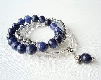 Women's bracelet | bracelet | stone beads | stone beads bracelet | three in one