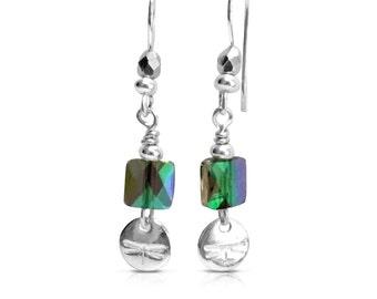 Natural Lover Gift, Boho Jewelry, Earrings, Long Earrings, Nature Jewelry, Nature Earrings Gift, Gift for Her, Dainty Earrings, Dragonfly