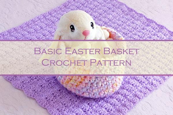 Easter Crochet Patterns For Beginners : Basic Easter Basket Pattern Beginner Crochet by ...
