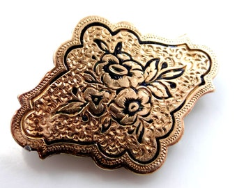 Victorian Taille d'Eperne Enamel Watch Pin