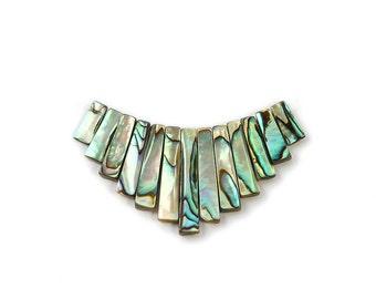 Abalone Shell Stick Collar Pendant Gemstone Beads