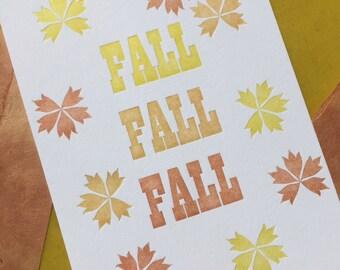 Fall Letterpress Print