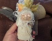 Comfort doll, Ethnic Art, ooak Art Doll, collectible keepsake, kitchen witch