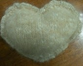 From Your Pets Fur Will Make a Large Knit Knitted Heart Ornament, Custom Order