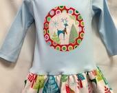 Christmas Tunic Dress- Modern Holiday Colored Reindeer ...