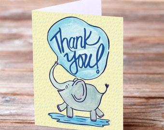 Thank you Elephant card set of 8