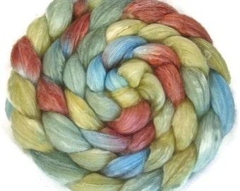 Handpainted Merino Bamboo Silk Roving - 4 oz. VINTAGE - Spinning Fiber