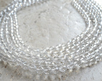 The Rebecca- Clear Czech Glass Statement Necklace