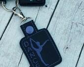 Party Favors - Dancer key fob - Dance Keyring - stocking stuffers - ballet - dance class gifts - gifts under 10 - keyfob - babymoon