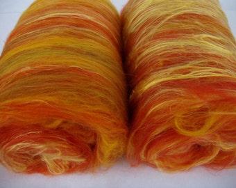 3.5oz, spinning batts, felting batts, merino silk, batts for felting, batts for spinning, felting fiber, spinning fiber,fibre batts, autumn