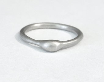 Rain Engagement Ring in 14k Palladium White Gold - Stoneless Engagement Ring