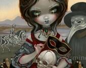 Carnevale di Morte death carnival fairy art print by Jasmine Becket-Griffith 12x16 BIG tarot card deck 78 carnivale masquerade mask venetian
