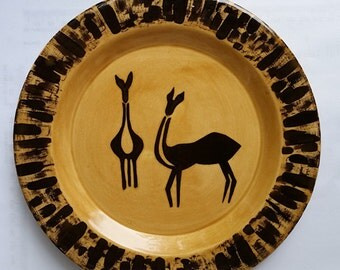 Earthenware 8 inch Antelope Salad Plate