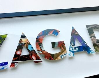 6 letters- CUSTOM superhero alphabet letters